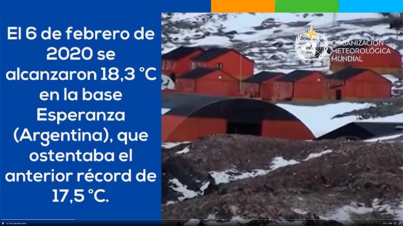 Récord de temperatura máxima en la Antártida y en más lugares fríos