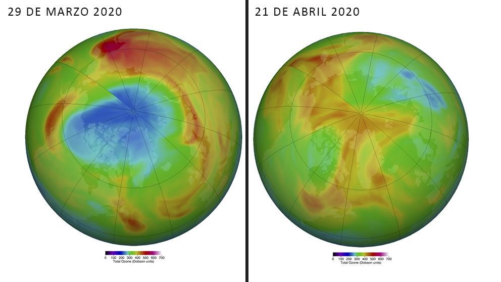 Desaparece el agujero de ozono en el Ártico