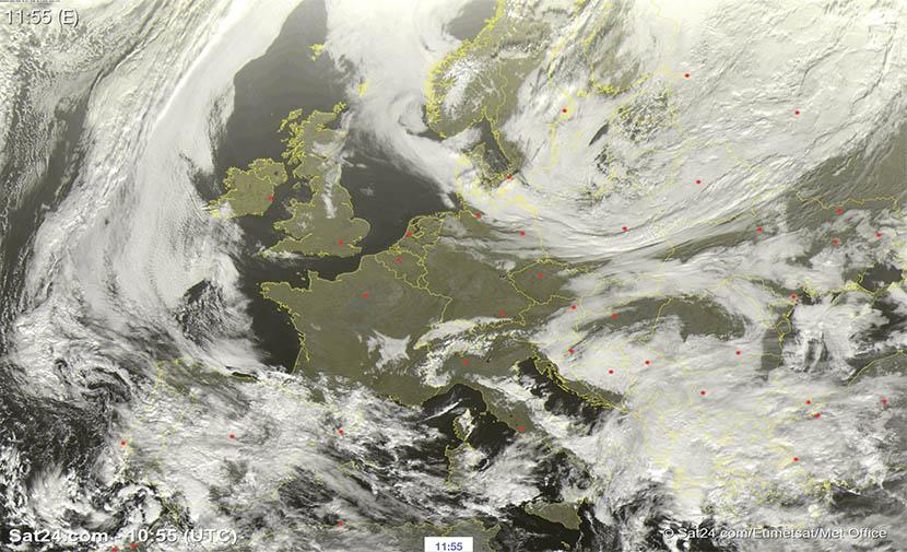 Lluvias intensas por toda la fachada mediterránea peninsular y Baleares.