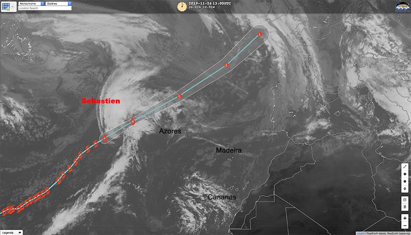 Sebastien: Galicia vigila su conversión en potente ciclón post-tropical.