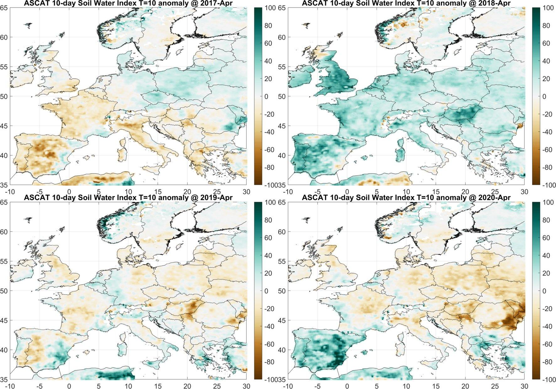 Sequía severa en Centroeuropa