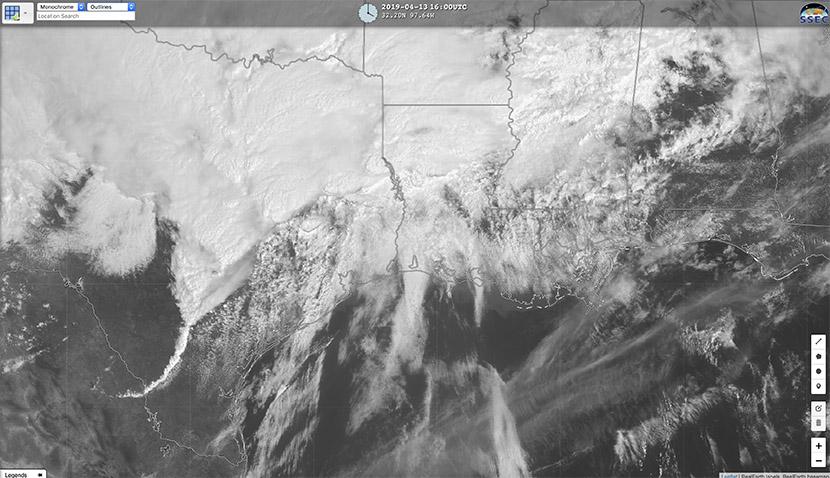 Una DANA provoca oleada de tormentas y tornados en el sur de los USA