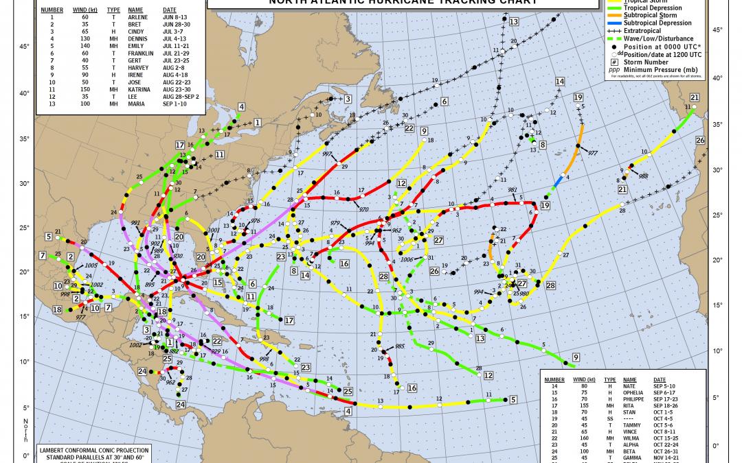 Previsiones de una temporada de huracanes 2020 muy activa en el Atlántico Norte