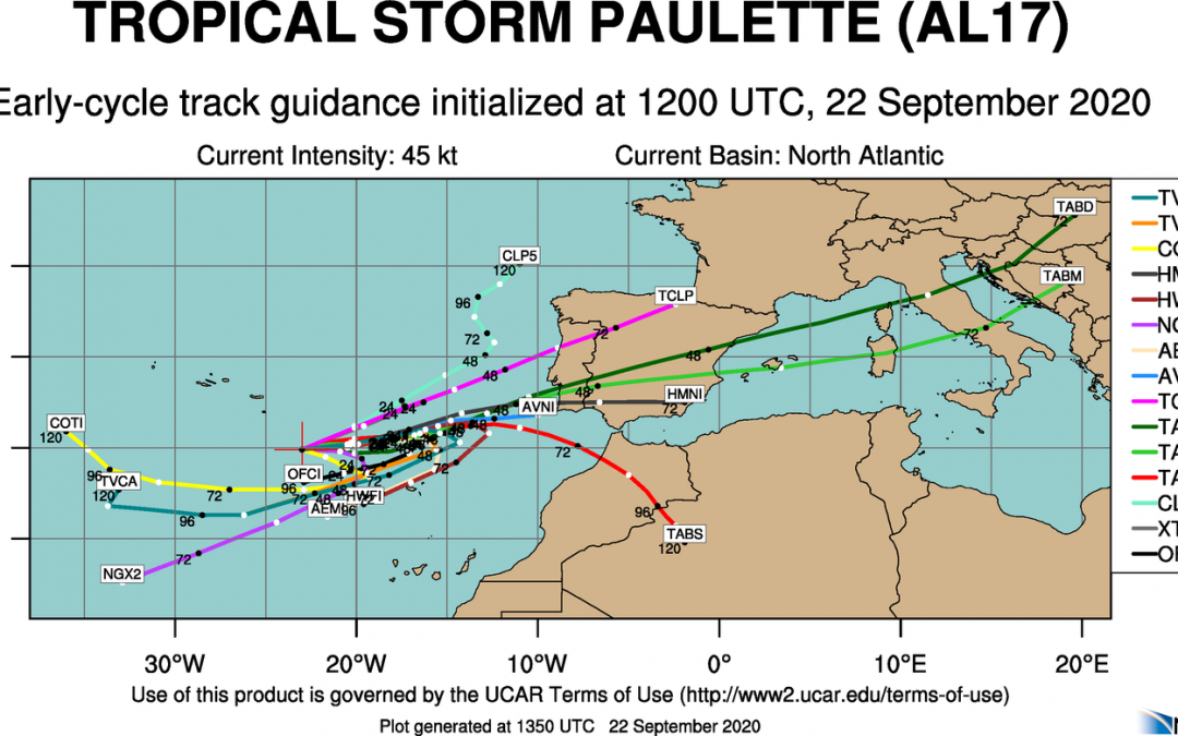 Paulette resurge entre Canarias y Azores