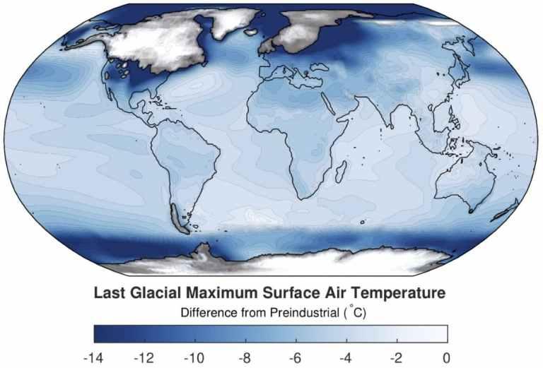 ¿Cuánto bajó la temperatura en la Edad de Hielo?