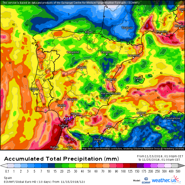 Bloqueo atmosférico en marcha: las lluvias llegarán a toda España