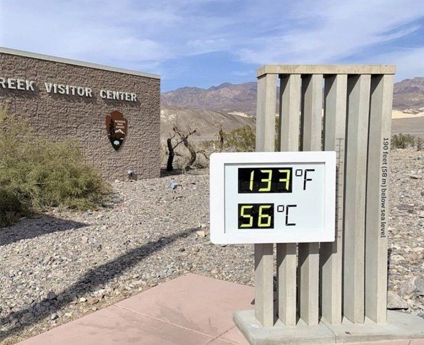 El Valle de la Muerte bate su récord de temperatura máxima mundial