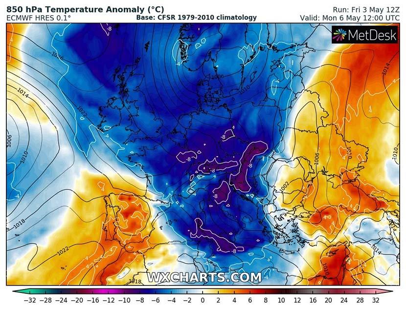 Inversión récord del vórtice polar, frío en Europa y…